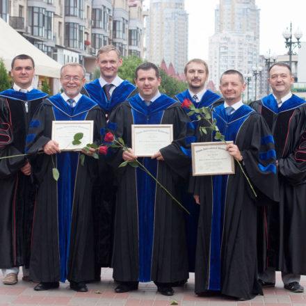 Защита докторской степени и вручение дипломов